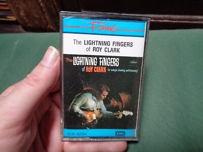 THE LIGHTNING FINGERS OF ROY CLARK_used cassette_ships from AUS!_zz61_Y3
