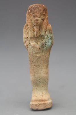 Egyptian Faience Shabti, Late Dynastic Period, C. 664 - 32 Bc.