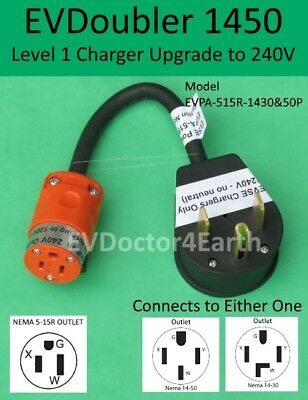 EVSE Level 2 upgrade 2x faster for Bolt Volt Fiat Chrysler Ford, EVDoubler 14-50