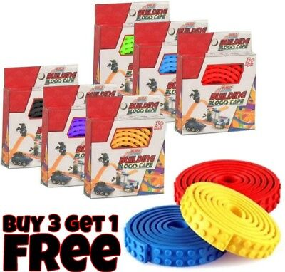 1M Lego Compatible 3M Stick Tape Strip Brick Block Toy Flexible Corners Base