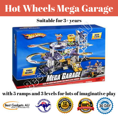 Hot Wheels Mega Garage Brand New Cars City Ultimate Parking Fun Play Set Toys