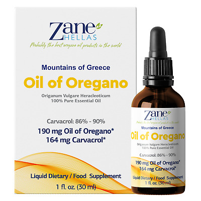 ZANE HELLAS Wild Pure Greek Essential Oil of Oregano Oil.2 bottles. 2 fl.oz-60ml