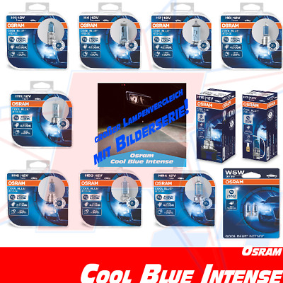 OSRAM Cool Blue Intense Xenon Look 12V H1 H3 H4 H7 H8 H11 H15 H16 HB3 HB4