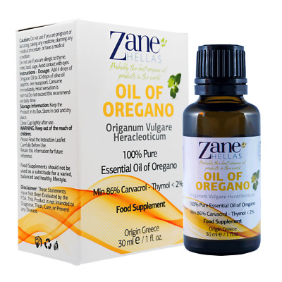 ZANE HELLAS Wild Pure Greek Essential Oil of Oregano Oil .4bottles 4 fl.oz-120ml