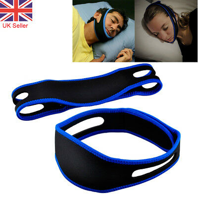 2x Anti Snore Sleep Band Chin Strap Stop Snoring Belt Jaw Solution Support