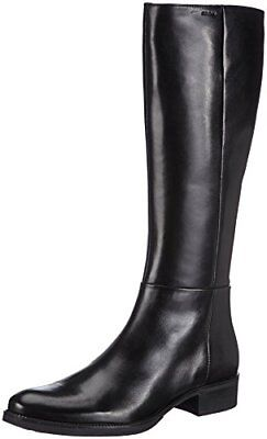 Geox D New Lise High H Stivali Donna Nero Black 37 EU Q2V