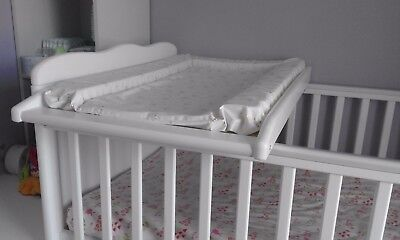 Universal Cot Top Baby Changer, Baby Dresser Table - White
