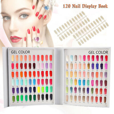 120 Nail Tip Colour Chart Display Book UV/LED Gel Polish With/Without Tips