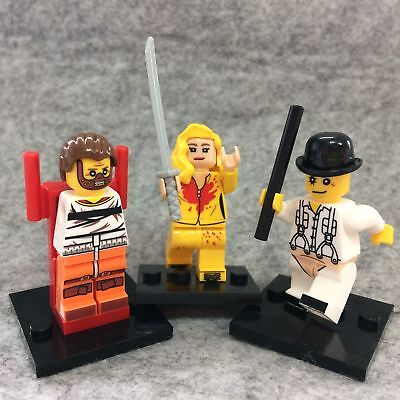 3PCS Horror Clockwork Orange Hannibal Lecter Kill Bill Uma Thurman Mini Figure
