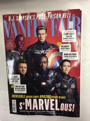 Vanity Fair Magazine Issue 689 Holiday 2018 Cover 3 Of 4 Falcon Jarvis Hawkeye