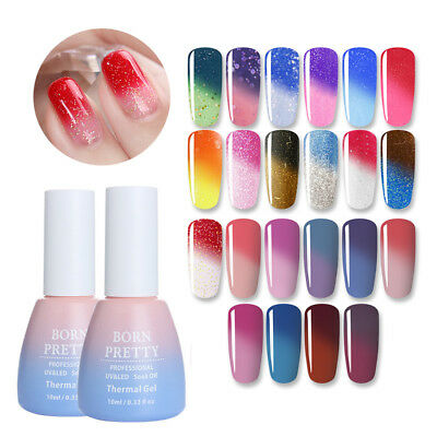 10ml Nail UV Gel Polish Temperature Color Changing Soak Off Shimmer Born Pretty