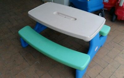 Little Tikes fold up picnic table very good condition