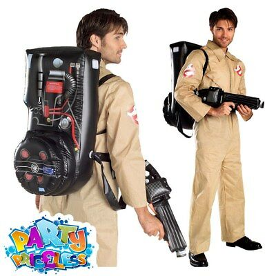 Mens Ghostbusters Costume Halloween Adult Fancy Dress Ghost Busters 80s Outfit