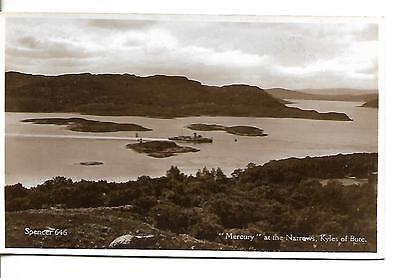"""Kyles of Bute """" Mercury"""" at the Narrows Postcard  (RP)  Unposted"""