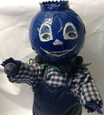 Big hand made BLUEBERRY MAN - Bonhomme BLEUET ~ Fait a la Main ~LAC-ST-JEAN P.Q.