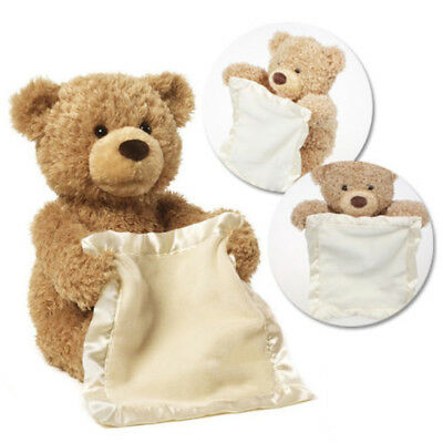 UK Peek A Boo Bear Baby Plush Interactive Teddy Toy Animated Talking Lovely Gift