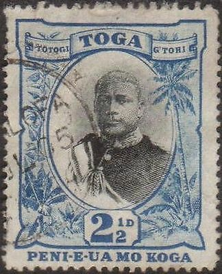 Tonga 1897 SG43a 2½d King George II no fraction bar in ½ FU