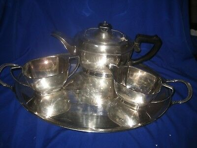 Vintage Silver Plated Tea Set  with Tray  E & Co