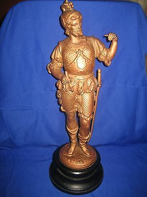 Painted Spelter Figure Medieval Knight