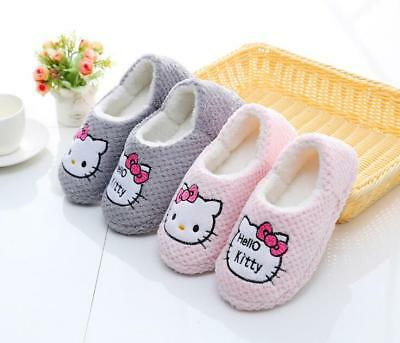 Hello Kitty Women's Slippers Cotton Leisure Home Flats House Pregnant Shoes