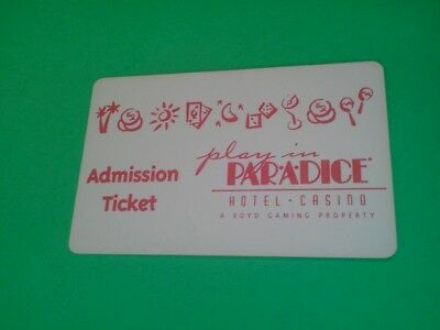 old PAR-A-DICE HOTEL-CASINO   EAST PEORIA,ILL  ***ADMISSION TICKET***  SLOT CARD