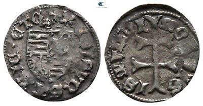 Savoca Coins Hungary Medieval Silver 0,49 g / 14 mm $KBR4270