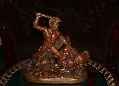 Antonio Canova Bronze Sculpture Theseus & Centaur Greek Mythological Nude Statue