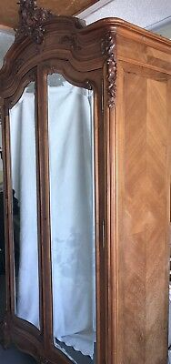 Antique French Armoire with Carved Roses Stuart, FL