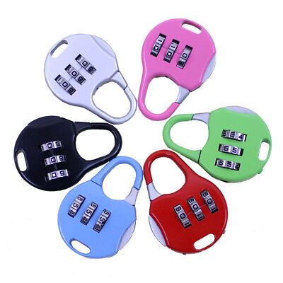 New Resettable 3 Digit Combination Lock Travel Luggage Suitcase Code Padlock