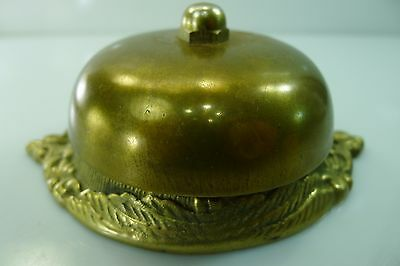 Rare Unusual Antique/vintage Solid Brass Bell With A Loud And Clear Ring
