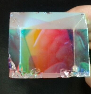 Defective Cross Dichroic Cube RGB Combiner Splitter Prism for Physics Science