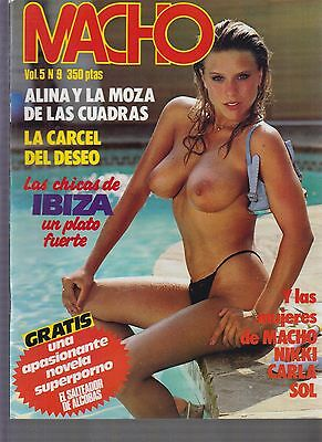 MACHO VOL. 5 N#  9 - , PORTADA SAMANTHA FOX  Magazine   vitange Spanish