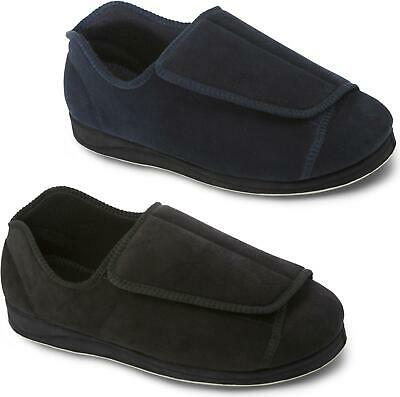 Padders PETER Mens Microsuede Extra Wide (H/K) Touch Fastening Full Slippers