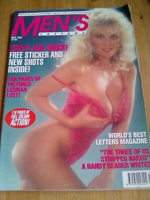MENS LETTERS May 1992 - Linzi Drew -  Vintage Mens Magazine.