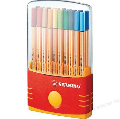 STABILO Fineliner point 88 ColorParade Box mit 20 Stiften NEU...OVP...