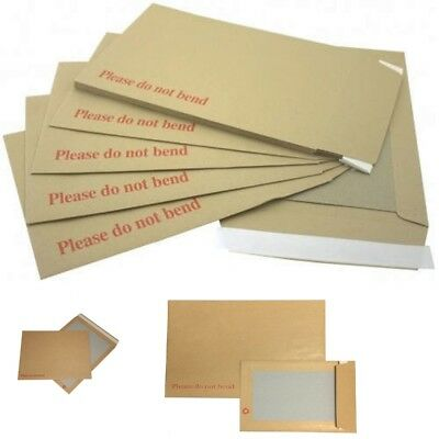 "Hard Card Board Back Backed ""please Do Not Bend"" Envelopes Brown Manilla"
