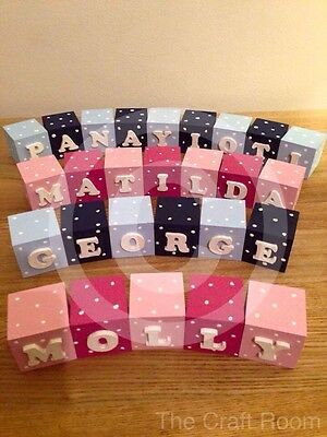 Personalised Name Blocks, Great for New Born / Christening gift. £2 Per Block