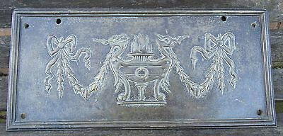Extremely Rare Antique Regency Period Bronze Wall Or Door Plate