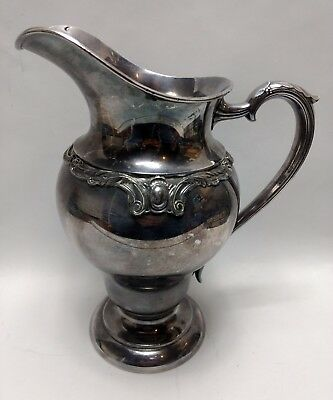 International Silver Wilcox Rochelle Water Pitcher 56 Oz Silverplate Hollowware