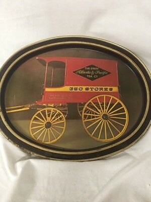 "The Great Atlantic & Pacific Tea Co. A & P Oval Tray 14 1/2"" X 11 1/2"" X 1"" AB"