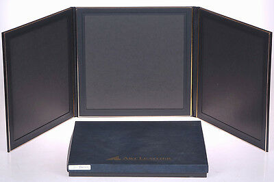 Art Leather BLACK Flip Photo Display to hold Three (3) 8x10 - NEW
