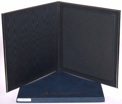 Art Leather BLACK Flip Photo Display for ONE (1) 8x10 - NEW