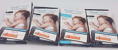 4 X TempTraq Hands Free Temperature Monitoring Single Use 24hr Patch Exp 06/17