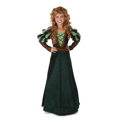 Forest Princess Child Costume Merida Brave Dress Medieval Disney Pixar Movie