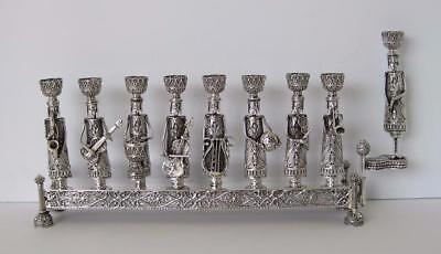Fine 925 Sterling Silver Unique Handcrafted Orchestra Filigree Chanukah Menorah