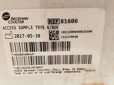 Beckman Coulter Access Sample Trays 13mm 81606 - Box of 6
