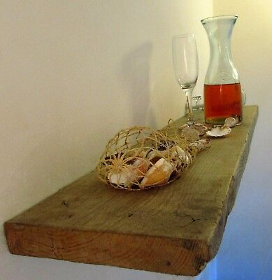 Rustic Reclaimed Floating Shelf Solid Chunky Wooden Shelving in Any Length