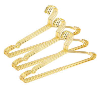 Gold Clothes Hanger Metal Wire Closet Organization Solution, 30 Pack Heavy Duty