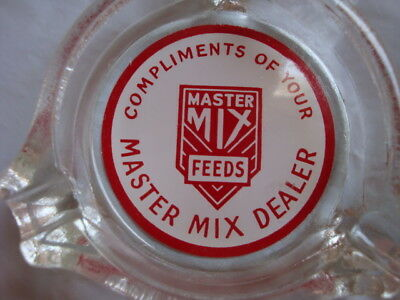 Vintage Master Mix Feeds Dealer Advertising Premium Promotional Promo Ash Tray