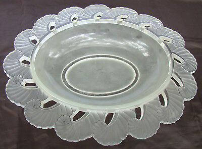 Signed Rene Lalique Crystal Coquille Shell Large Centerpiece France, circa 1920